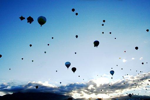 Balloons, Hot Air Balloons, Balloon Fiesta, Flying, Sky