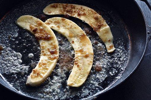 Banana, Caramelized, Food, Sweet, Breakfast, Cooked