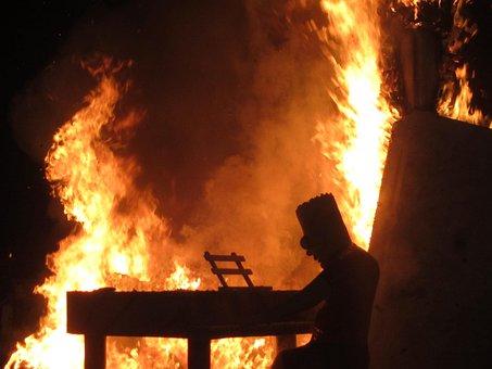 Fire, Bonfire, Bart Simpson, Spain, Festival, Valencia