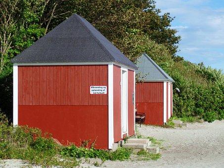 Nysted, Beach, Locker, Sand, Baltic Sea, Sand Beach