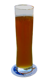 Beer, Drink, Wheat Beer, Glass, Foam, Beer Felt, Bill