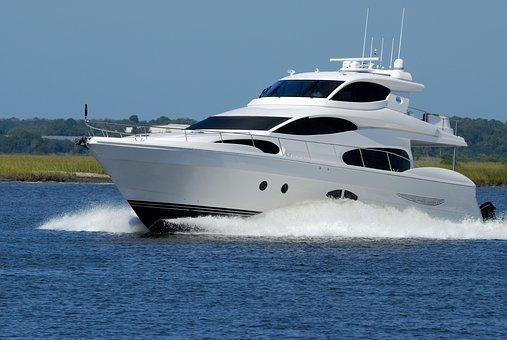 Luxury Yacht, Boat, Speed, Water, River, Ocean, Sea