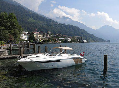 Boot, Lake, Luxury, Lake Lucerne Region, Water, Ship