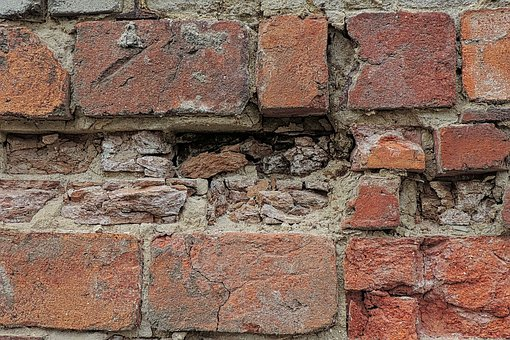 Wall, Old, Bricks, Break Up, Old Brick Wall, Stone Wall
