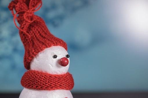 Snow Man, Winter, Cap, Cold, Mood, Postcard