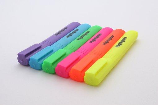 Felt Pens, 6, Art, Artistic, Blue, Classroom, Color