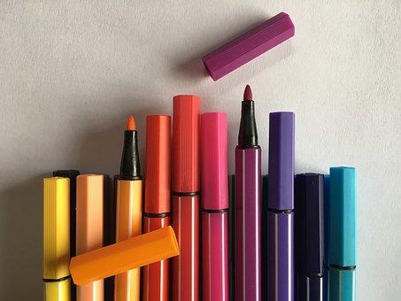 Colored Pencils, Felt Tip Pens, Crayons, Colour Pencils