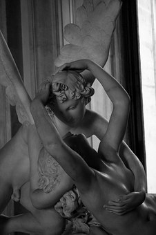 Cupid And Psyche, Louvre, Paris, Statue, Museum