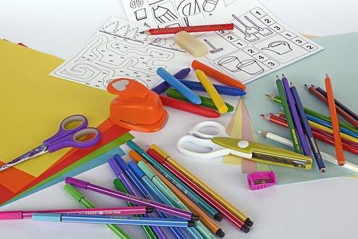 Felt Tip Pens, Colored Pencils, Crayons, Pens, Draw