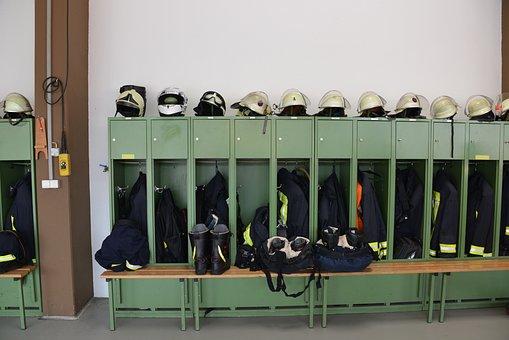 Fire, Locker, Dresses, Helmets, Shoes