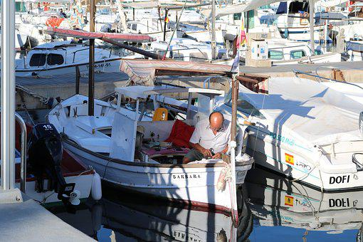 Mallorca, Fischer, Fishing Boat, Port