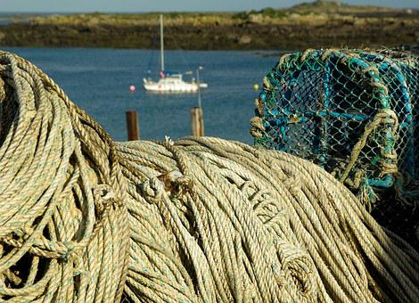 Normandy, Chausey Islands, Sailboat, Fishing, Rope