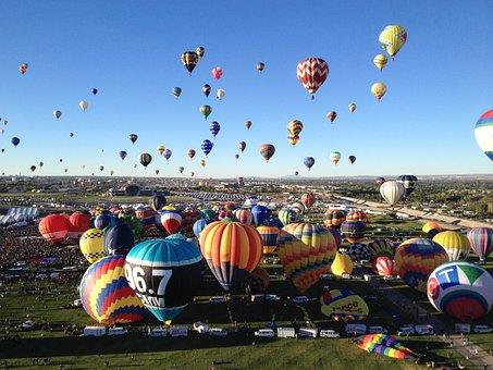 Ballon Fiesta, Photo, Color, Fly, Ride, Air, Floating