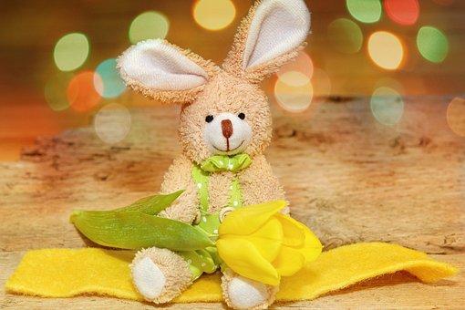 Fabric Bunny, Dekohase, Flower, Tulip, Felt