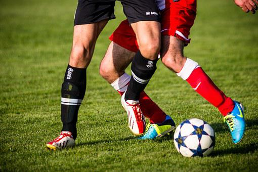 Football, Clip, Football Boots, Soccer, Duel, Opponents