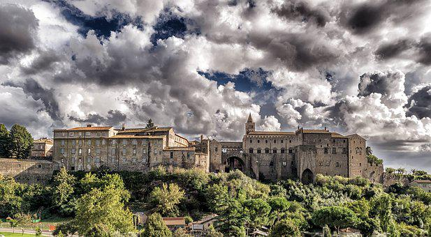 Middle Ages, Castle, Fortress, Italy, Viterbo, Latium