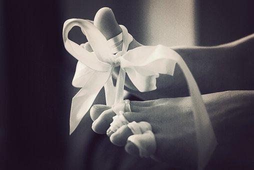 Ribbon, Feet, Fetish, Black And White, Erotic, Gift