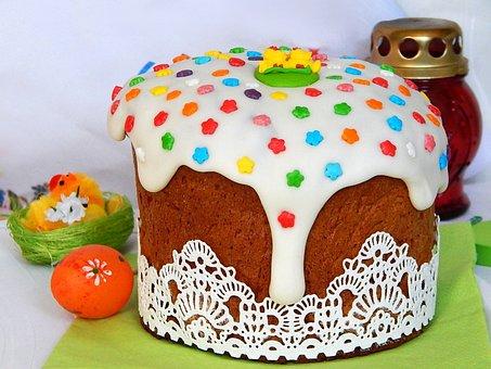 Easter Cake, Easter, Holiday, Glaze, Christ Is Risen