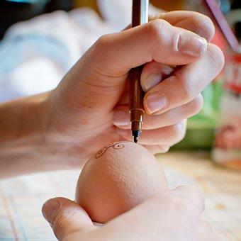 Paint, Pen, Easter Egg, Egg, Keep, Finger, Hands