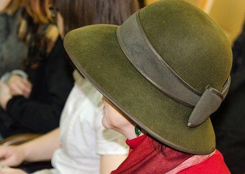 Hat, Felt, Women, Green, Clothing