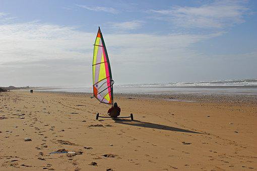 Yachting, Beach, Ile D'oleron, Sea, Wind, Roll Over