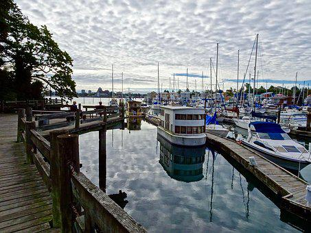 Harbour, Esquimalt, Port, Marina, Boats, Yachts, Harbor