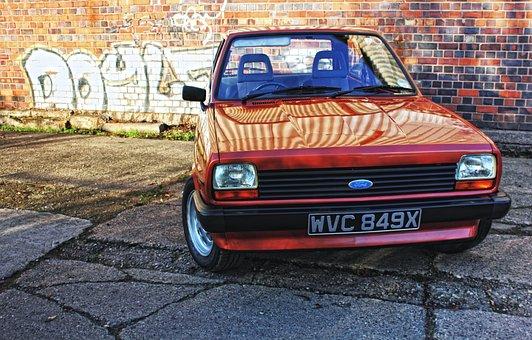 Mk1, Fiesta, Retro, Auto, Car, Customised, Vintage