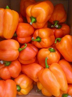 Orange, Paprika, Green, Vegetables, Seiyu Ltd, Living