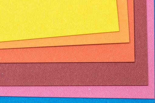 Paper, Structure, Felt Paper, Color, Rainbow Colors