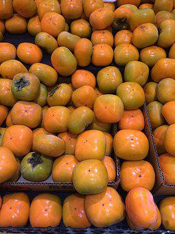 Persimmon, Young And Vivacious, Autumn, Orange, Green