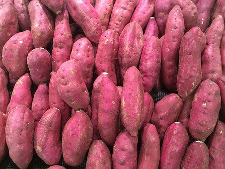 Sweet Potato, Red Purple, Pile Up, Fruit, Seiyu Ltd
