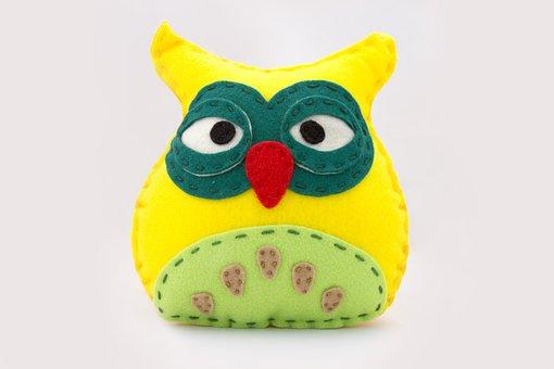 Sowa, The Mascot, Yellow, Green, Toy, Pillow, Plush