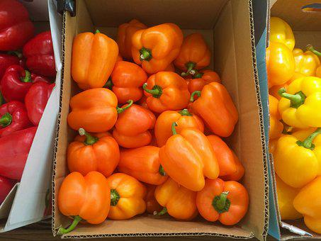 Orange, Paprika, Yellow, Red, 3 Color, Box