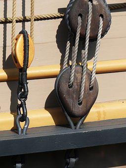Pulley, Pirate, Ship, Rope, Boat, Nautical, Rigging