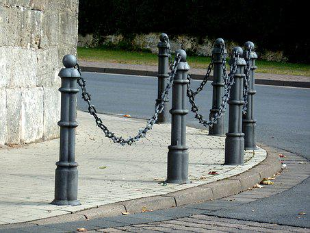 Pavement, Walk, Road, Barrier, Security, Regulation