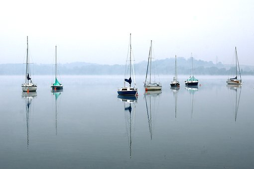 Sailboats, Sails, Yachts, Lake, Sailboat, Wind, Water