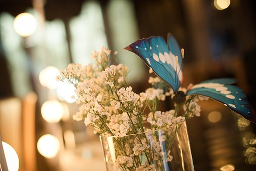 Wedding, Site Layout, Bouquet, Butterfly