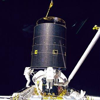 Space, Astronauts, Space-walk, Repairing, Module, Sky