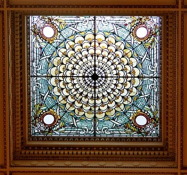 Stained Glass, Window, Library Of Congress