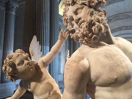 Statue, Centaur, Cupid, Love, Eros, Torture, Museum