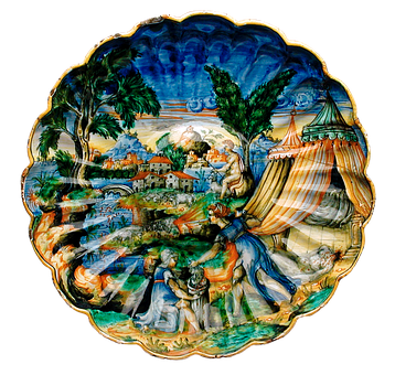 Plate, Tableware, Art, Painting, Colorful, Glazed