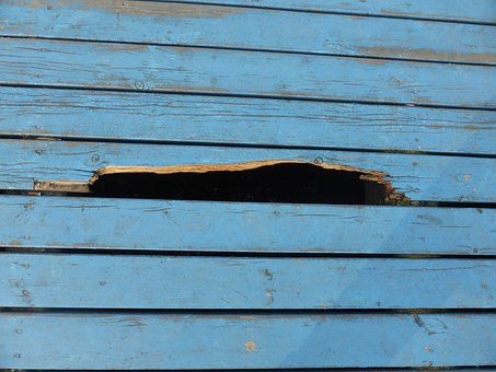 Hole, Boards, Texture, Blue, Board, The Background