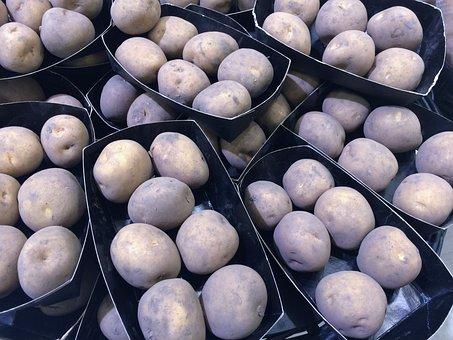 Potato, Black And White, Vegetables, Department