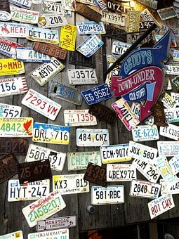 Car Tags, Wall, Plates, Signs, Generalstore, Metal