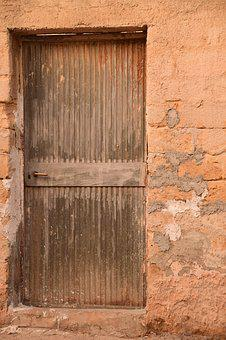 Door, Old Door, Wall, House Entrance, Front Door