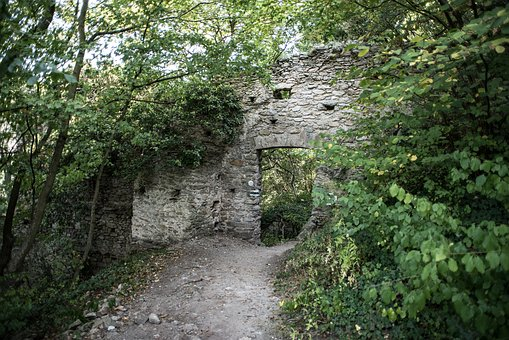 Ruin, Goal, Passage, Wall, Old, Masonry, Middle Ages