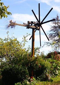 Klapotetz, Pinwheel, Rattle, Scarecrow, Vineyard, Wine