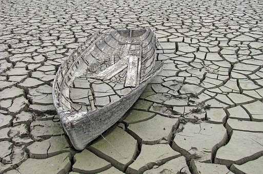 Old, Ship, Mud, Broken, Abandoned, Sad, Background