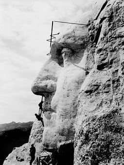 Mount Rushmore, George Washington, Construction, Art