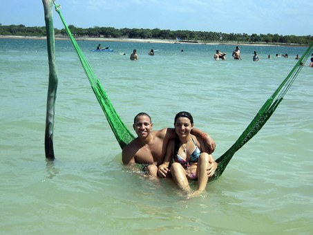 Jericoacoara, Blue Lagoon, Water, Beach, Love, Ceará